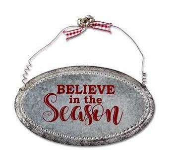 Galvanized Christmas Ornament - Courtyard Style
