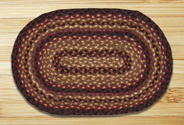 Black Cherry/Chocolate/Cream Miniature Swatch In Different Sizes And Shapes