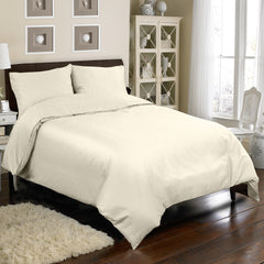 300TC 4 PC DUVET SET IN IVORY