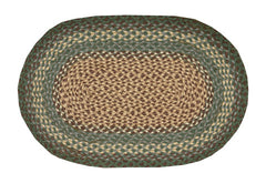 Dark Green Braided Rug In Different Sizes