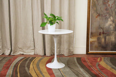 Baxton Studio Immer Wood and Steel Mid-Century Style End Table