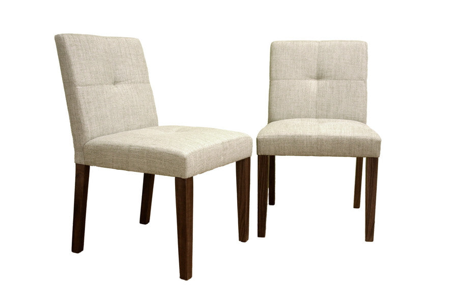 Baxton Studio Glen Cream Woven Fabric Chair Set of 2