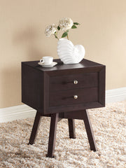 Baxton Studio Warwick Brown Accent Table and Nightstand