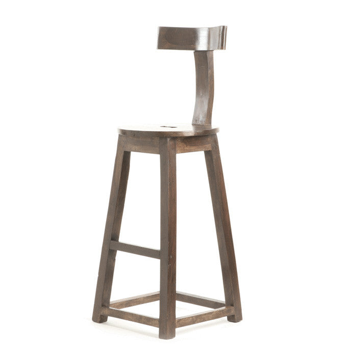 "26"" Rustic Wooden Barstool -Set Of 2"