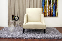 Baxton Studio Heddery Cream Fabric Modern Club Chair