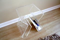 Baxton Studio Acrylic End Table