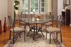 Baxton Studio Hera Brown 5-Piece Dining Set