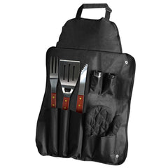 7 Piece Smoking Grill Barbecue Apron & Utensil Set