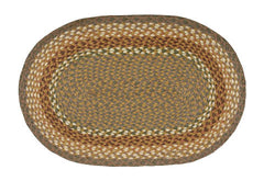 Mustard/Ivory Braided Rug In Different Sizes