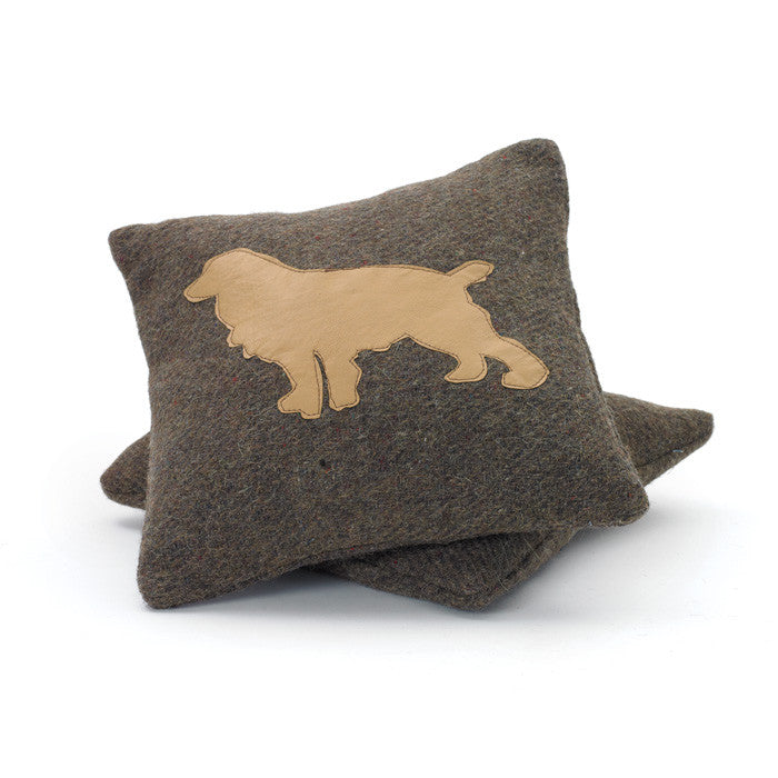 Wool Puppy Square Pillow- Set Of 2