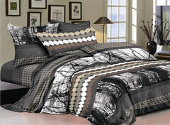Chic Style Circles and Black Forest Luxury 4-Piece Cotton Bedding Sets/Duvet Cover