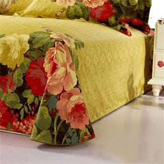 3D Peony Oil Painting Retro Style Luxury 4-Piece Bedding Sets/Duvet Covers