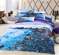 New Arrival Pebbles in the Mist Print Luxury 3D Bedding Sets