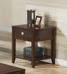 Baxton Studio New Jersey Brown Wood Modern End Table