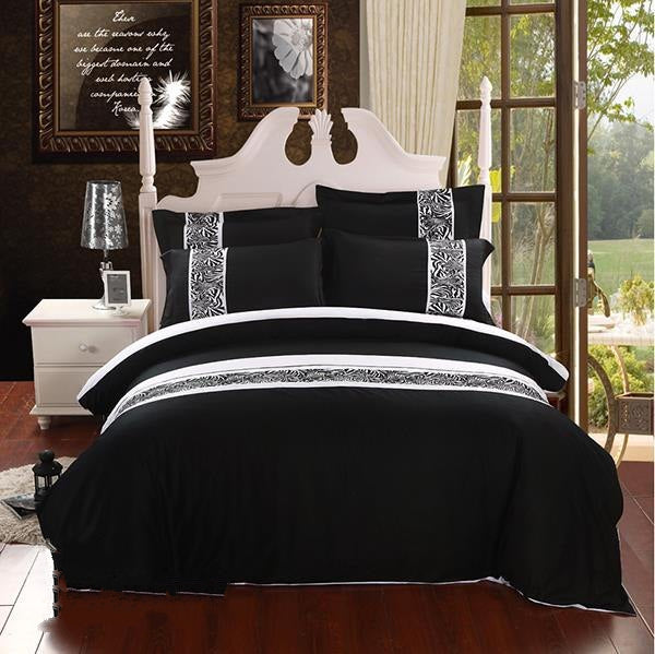 Zebra Pattern Modern Style Cotton Luxury 4-Piece Bedding Sets/Duvet Cover