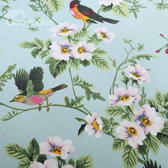 American Pastoral Style Floral Birds Print Luxury 4-Piece Duvet Cover Sets