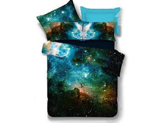 Fabulous Charming Galaxy Print Polyester Luxury 4-Piece Duvet Cover Sets