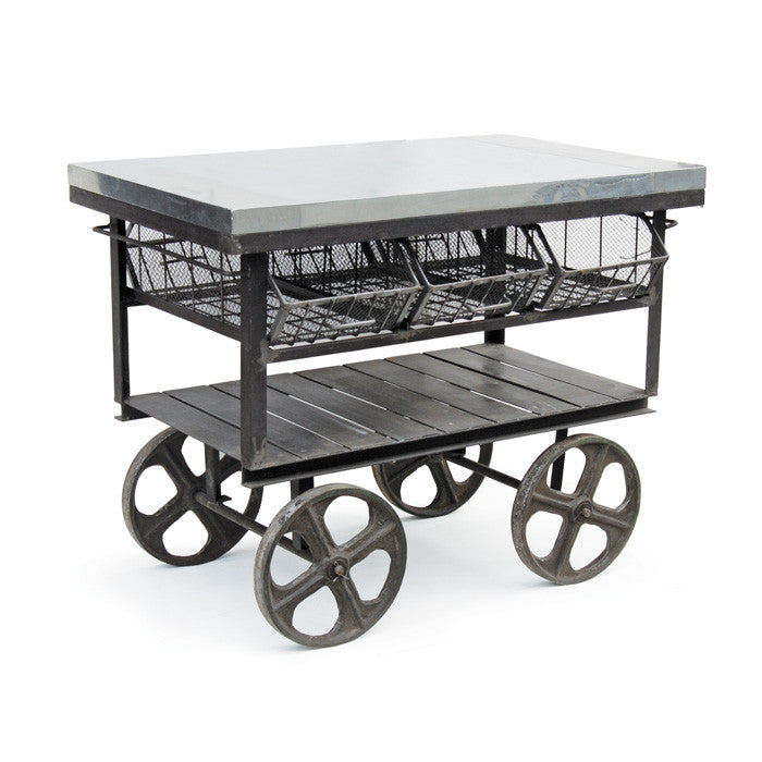 Steel Factory Station Cart