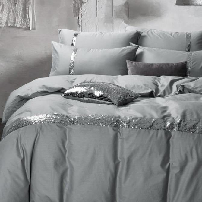 white bedding grey cotton duvet sleep and silver cover product set luxury
