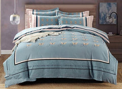 Unique Butterfly Print Luxury 4-Piece Cotton Bedding Sets/Duvet Cover