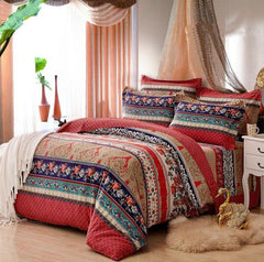 Colorful Bohemia Stripes Print Exotic Style Cotton Luxury 4-Piece Bedding Sets/Duvet Cover