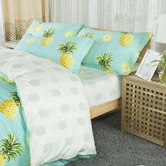 Pineapples Print Fresh Style Cotton Luxury 4-Piece Bedding Sets