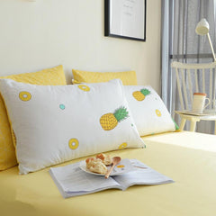 Pineapple Yellow Fresh Style Cotton Luxury 4-Piece Bedding Sets/Duvet Cover
