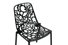 Baxton Studio Demeter Metal Dining Chair in Set of 2