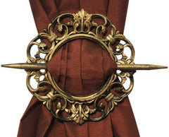 Set of 2 Decorative Curtain Holdbacks Window Curtain Tiebacks, Antique