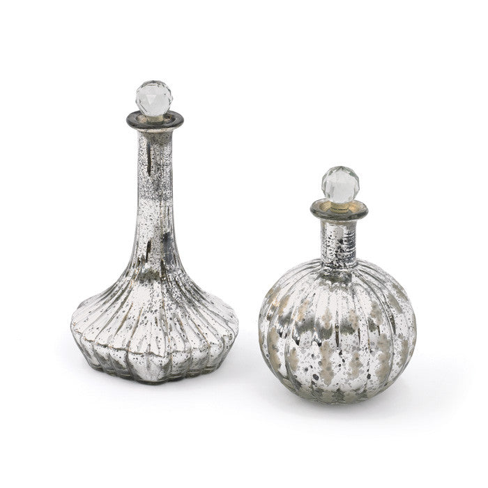 Glass Jeanie Bottles-Set of Two