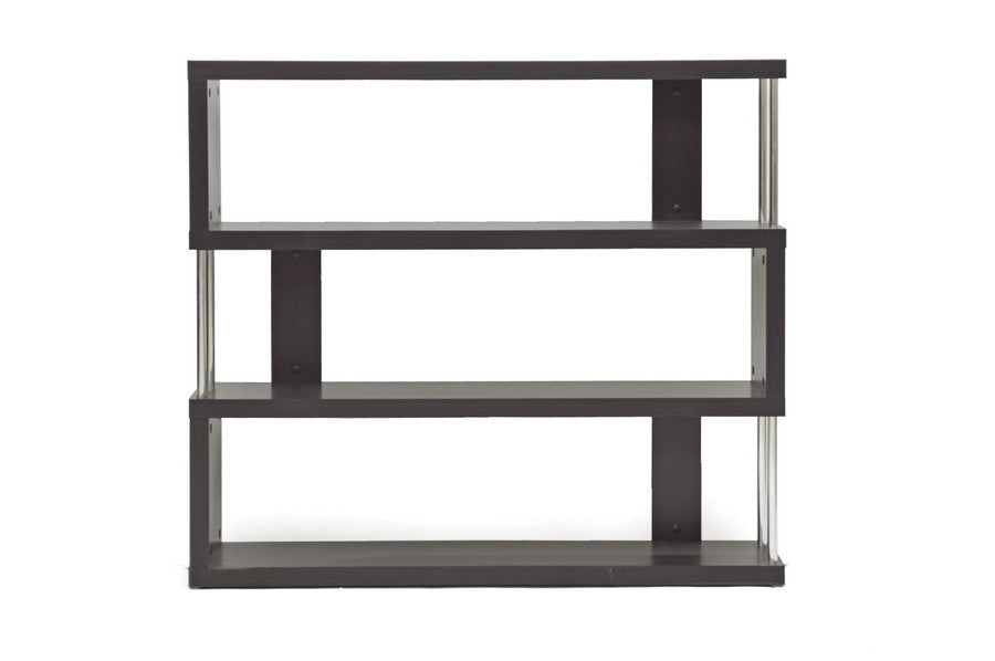 Baxton Studio Three-Shelf Modern Bookcase