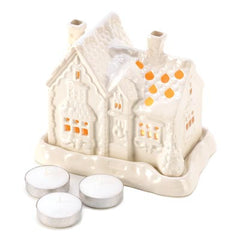 Snow Cottage Tealight Holder