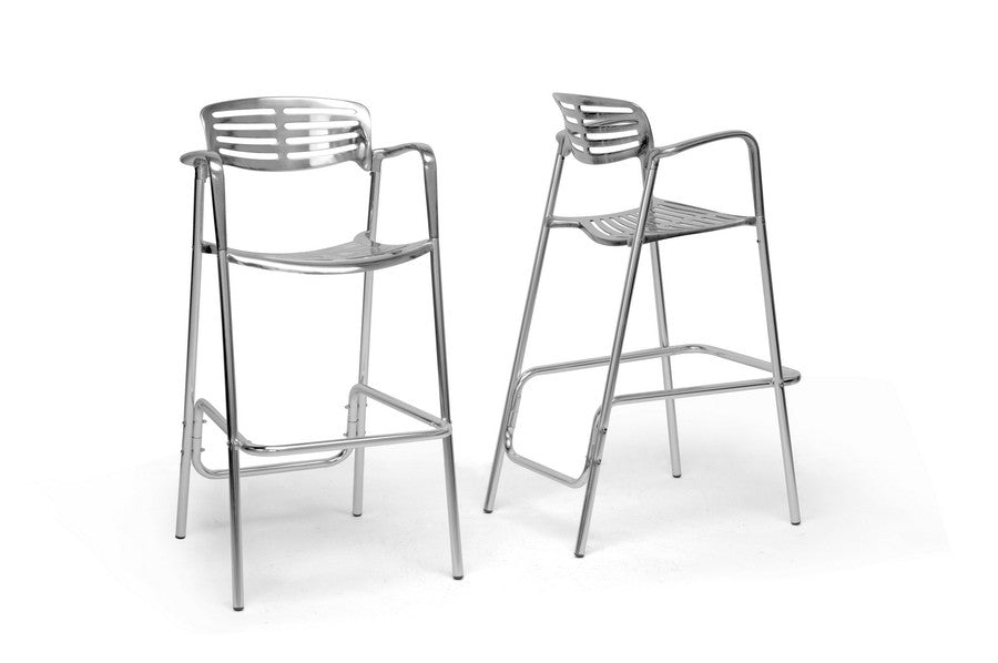Baxton Studio Ethan Bar Stool in Set of 2