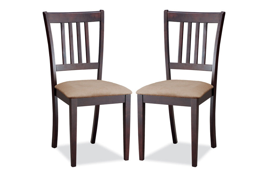 Baxton Studio Sharon Brown Wood Dining Chair in Set of 2