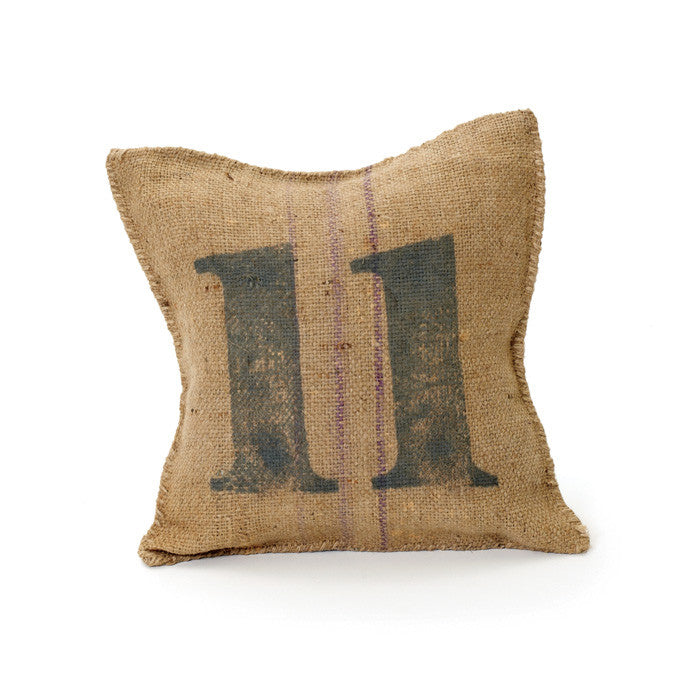 Vintage Square Sack Pillow # 11- Set Of 2