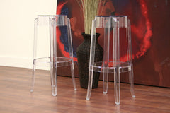 Baxton Studio Bettino Acrylic Barstool Set of 2