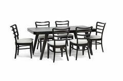 Baxton Studio Coventa 7-Piece Dark Brown Modern Dining Set