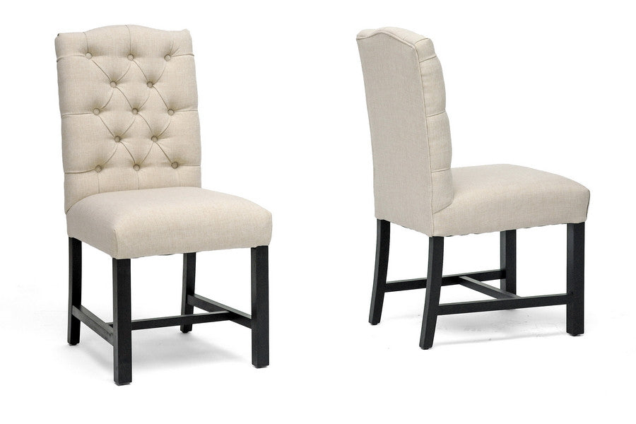 Baxton Studio Pearsall Dining Chair in Set of 2