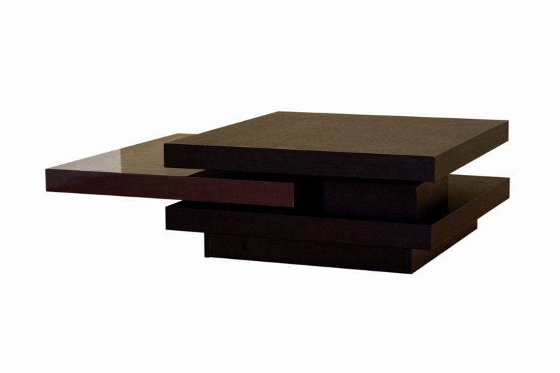 Baxton Studio Wenge Oak Veneer Convertible Coffee Table