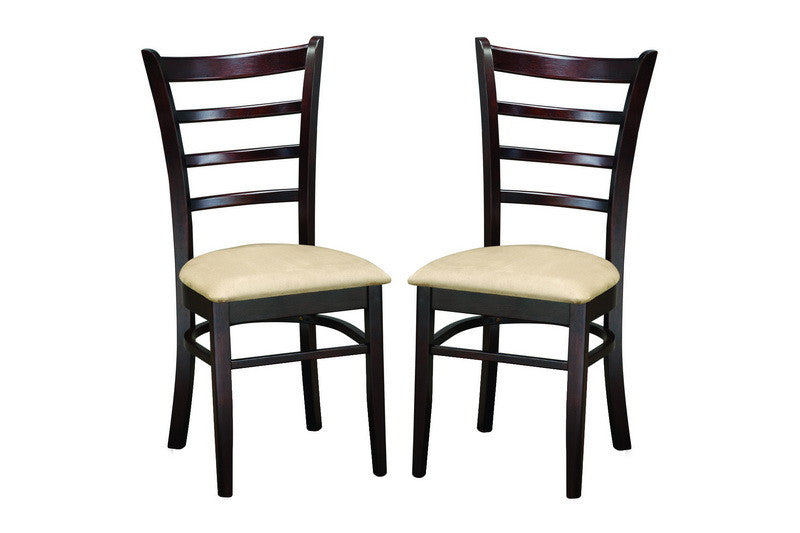 Baxton Studio Lanark Dark Brown Modern Dining Chair in Set of 2