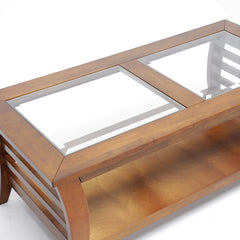 Baxton Studio Allison Honey Brown Wood Coffee Table