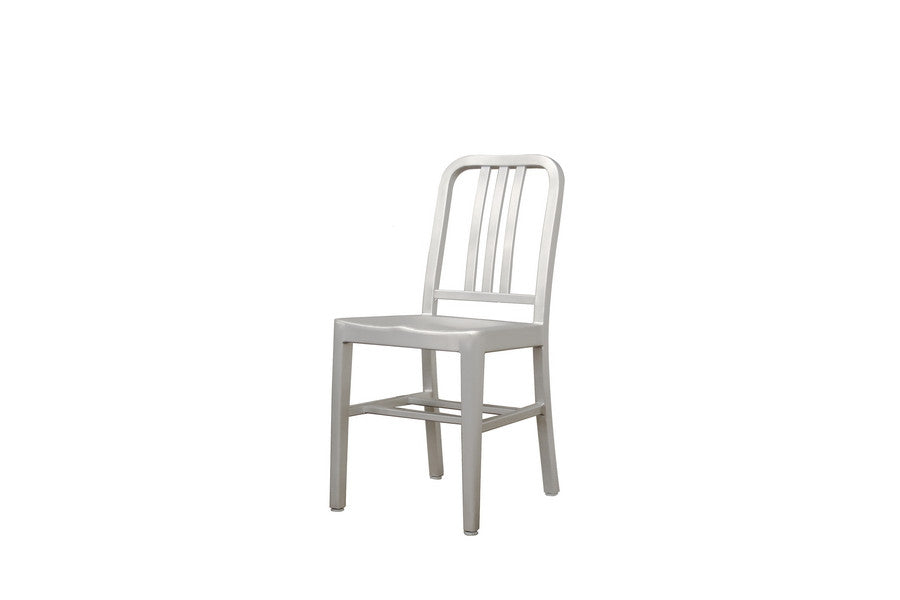 Baxton Studio Modern Cafe Chair in Brushed Aluminum