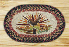 Rooster Oval Patch Rug