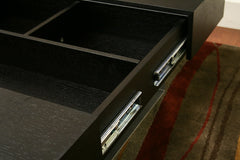 Baxton Studio Noemi Black Coffee Table with Storage Compartments