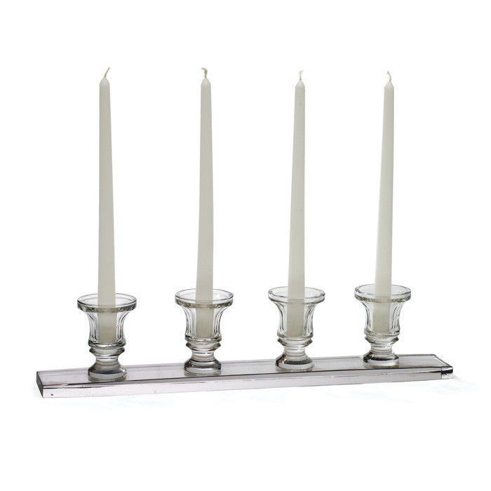 Glass Linear Candleholder