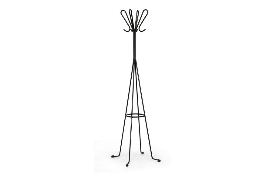 Baxton Studio Chronos Black Metal Coat Stand