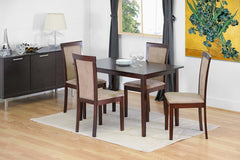 Baxton Studio Judy Dark Brown 5 Piece Modern Dining Set