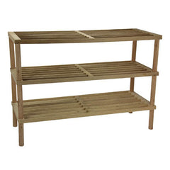 3-Tier Oak Shoe Rack