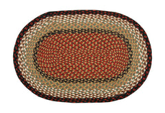 Burgundy or Mustard Braided Rug In Different Shapes And Sizes