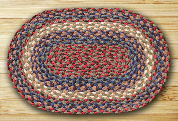 Burgundy/Gray Jute Placemat